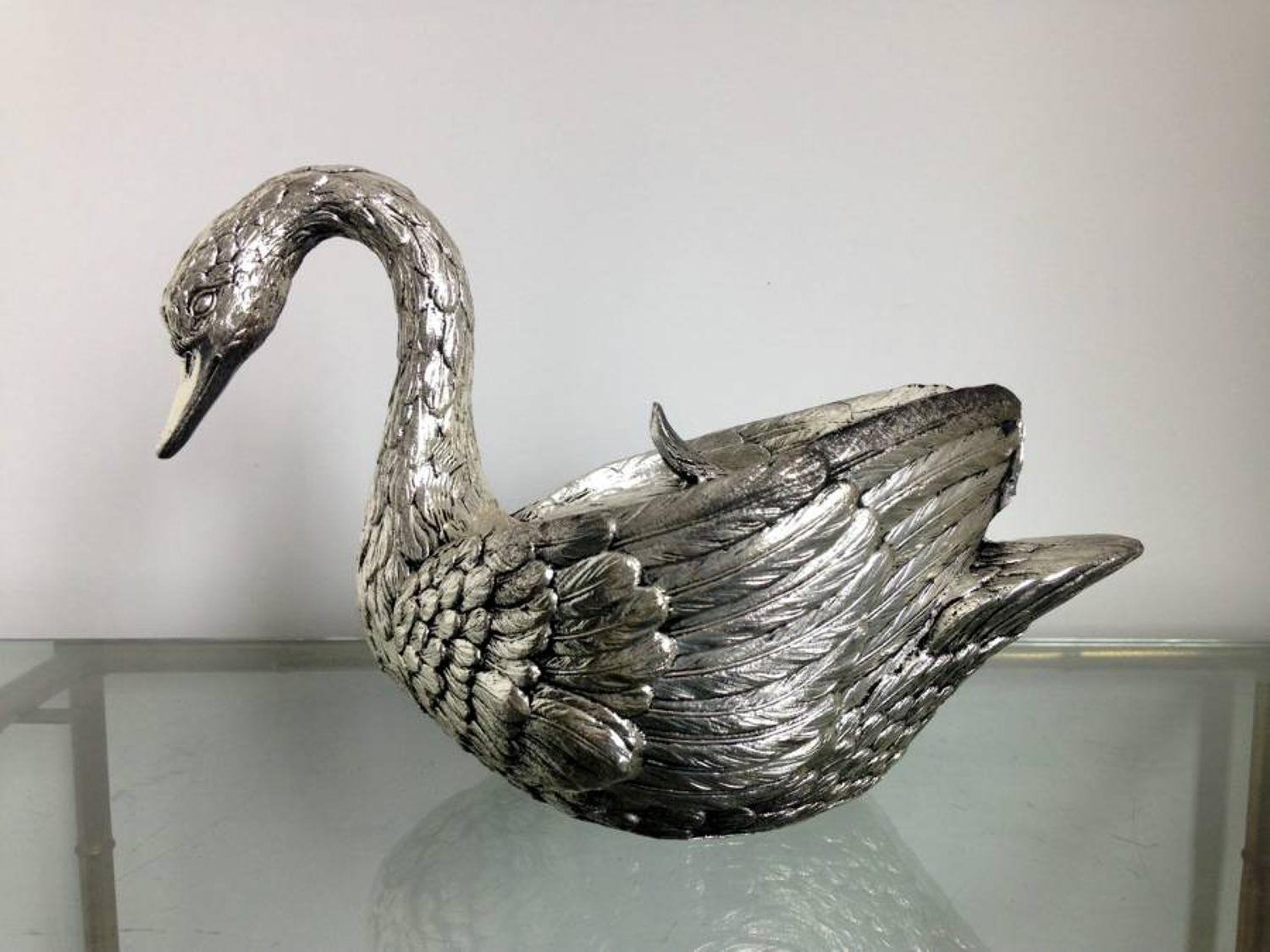 Swan ice bucket by Mauro Manetti