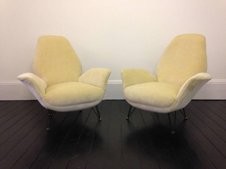A pair of 1950s Italian armchairs