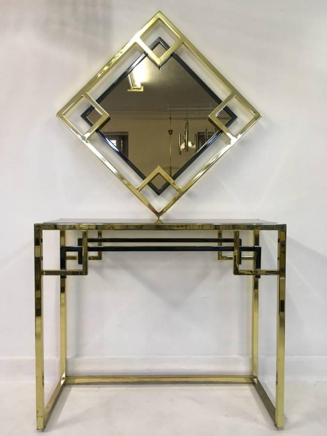 Console table and mirror by Belgo Chrom