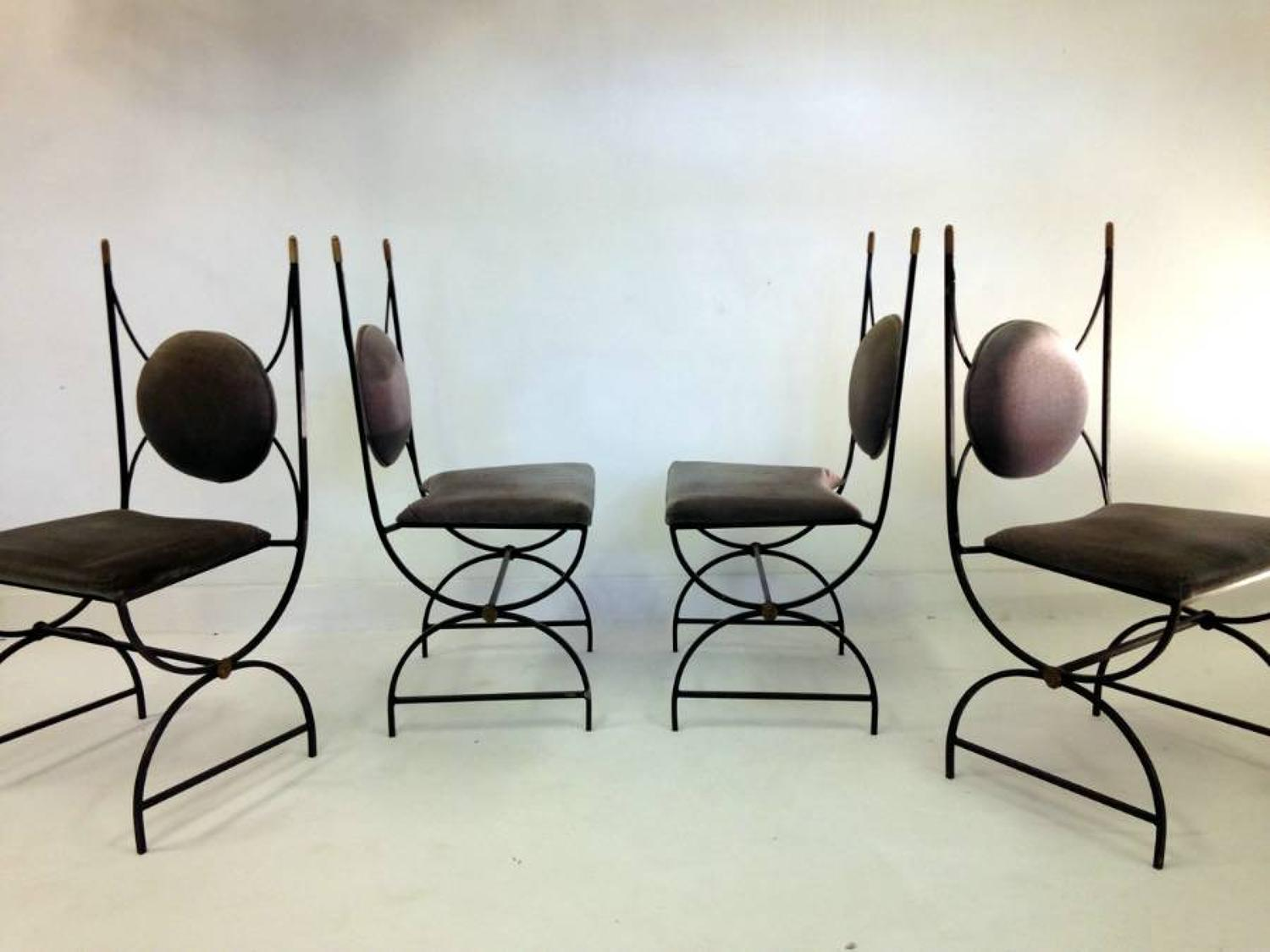 Four Neo-classical chairs by Roger Thibier