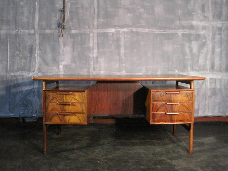 Rosewood desk by Omann Jun