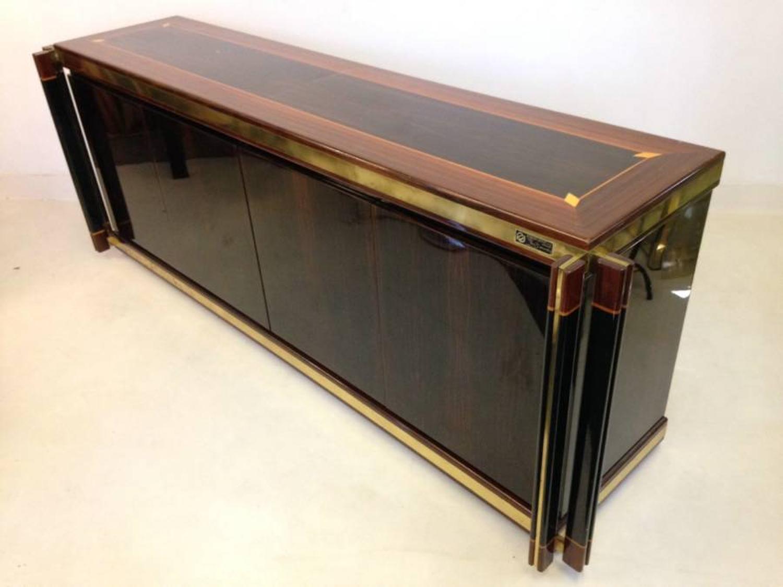 Macassar ebony, rosewood and brass sideboard
