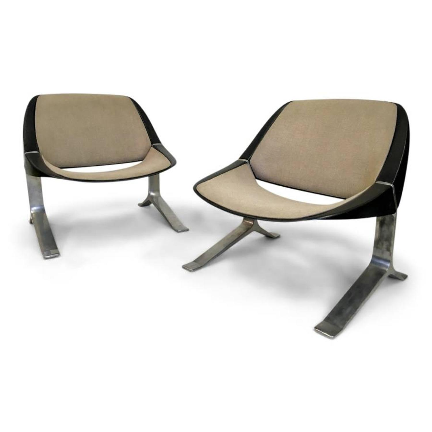 A pair of 1970s lounge chairs by Knut Hesterberg