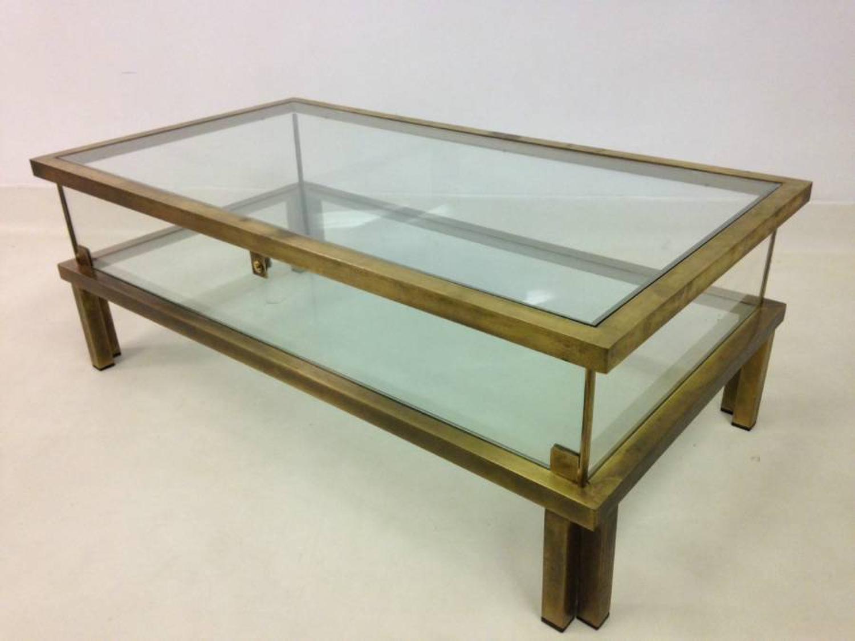 Brass vitrine coffee table
