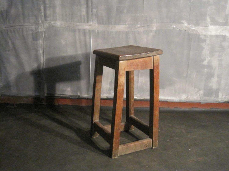 Vintage clerks or laboratory stool