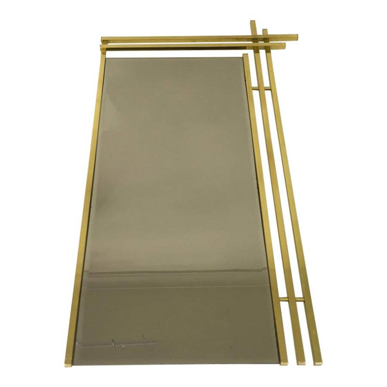 1970s Italian brass framed mirror