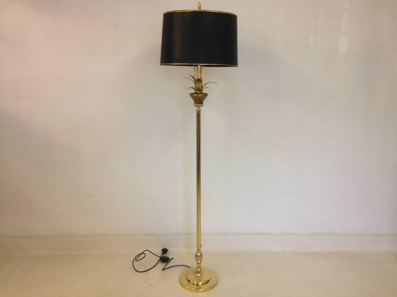 Brass and gold metal wheatsheaf floor lamp