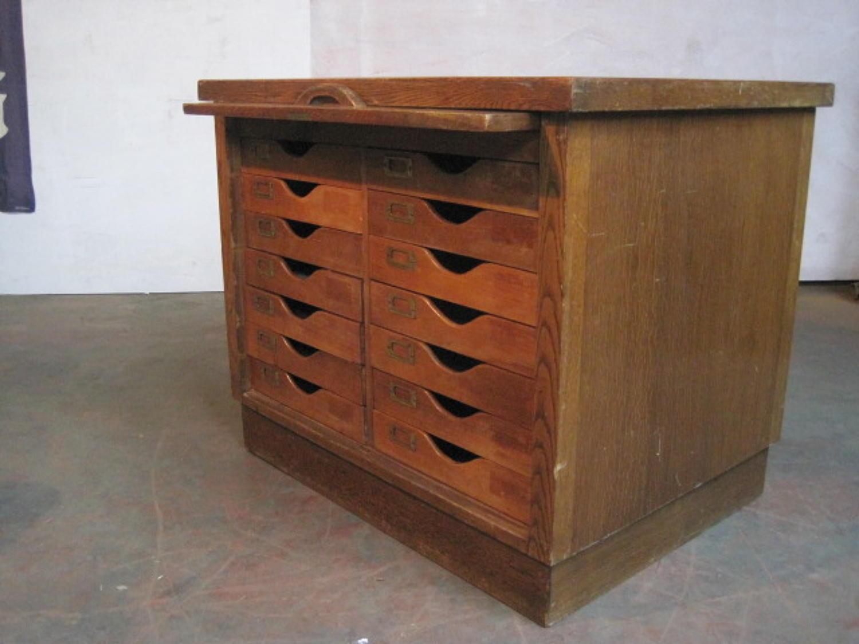 Vintage American oak filing drawers