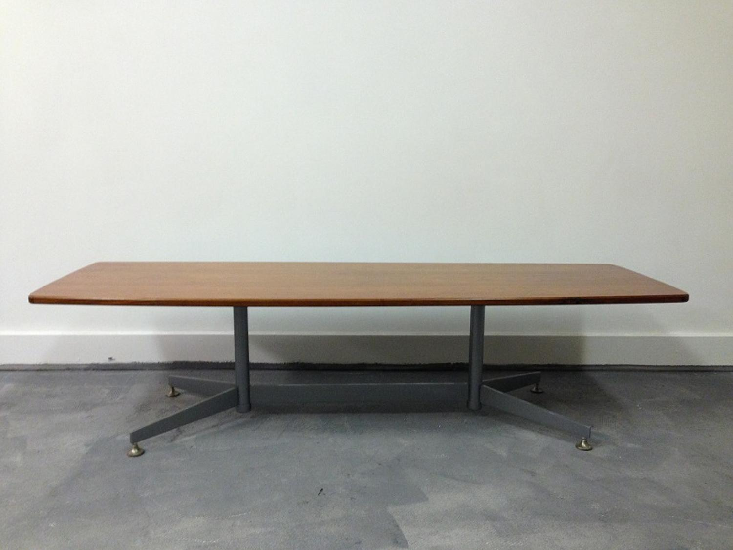 Long rosewood coffee table