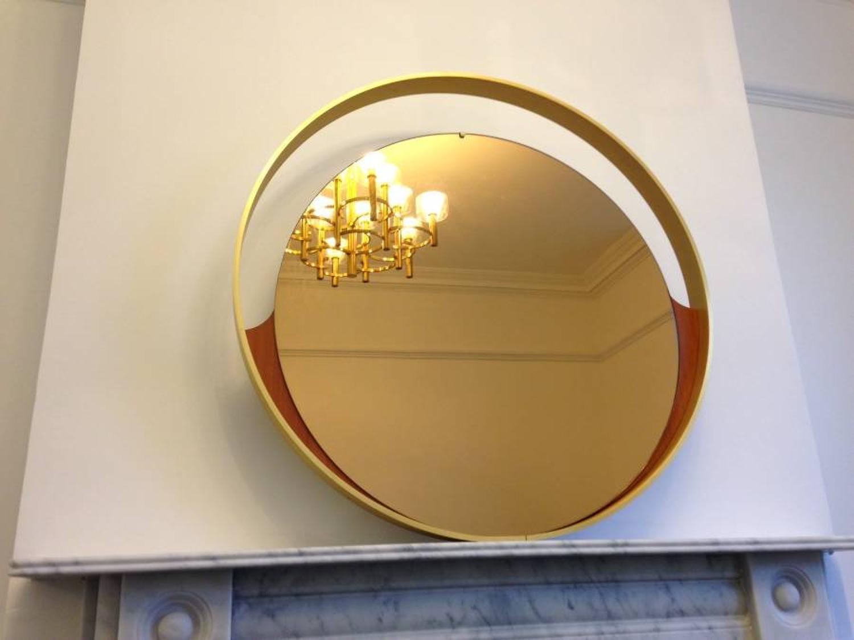 1970s Italian brass framed mirror