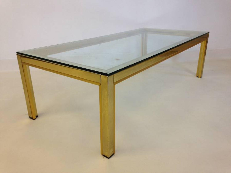 Gilt brass coffee table