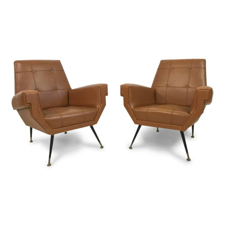 A pair of 1960s Italian armchairs