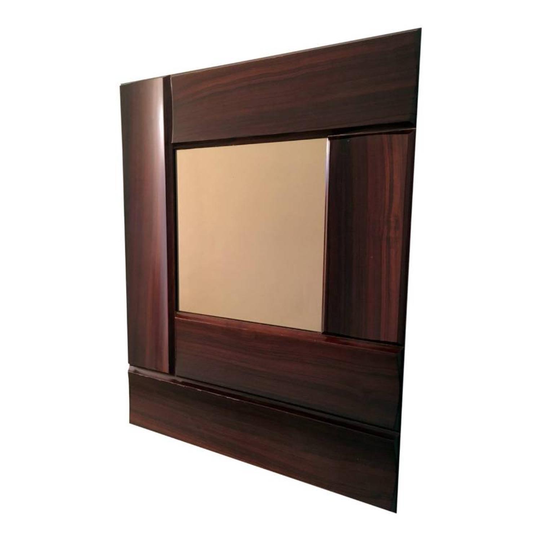 Italian rosewood framed mirror