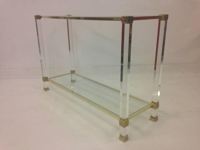 Lucite console table by Pierre Vandel