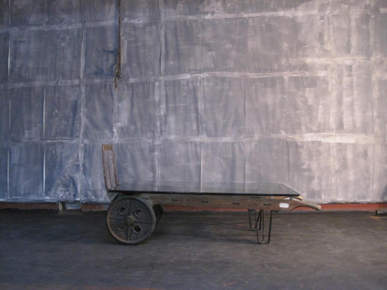 Vintage sack barrow coffee table