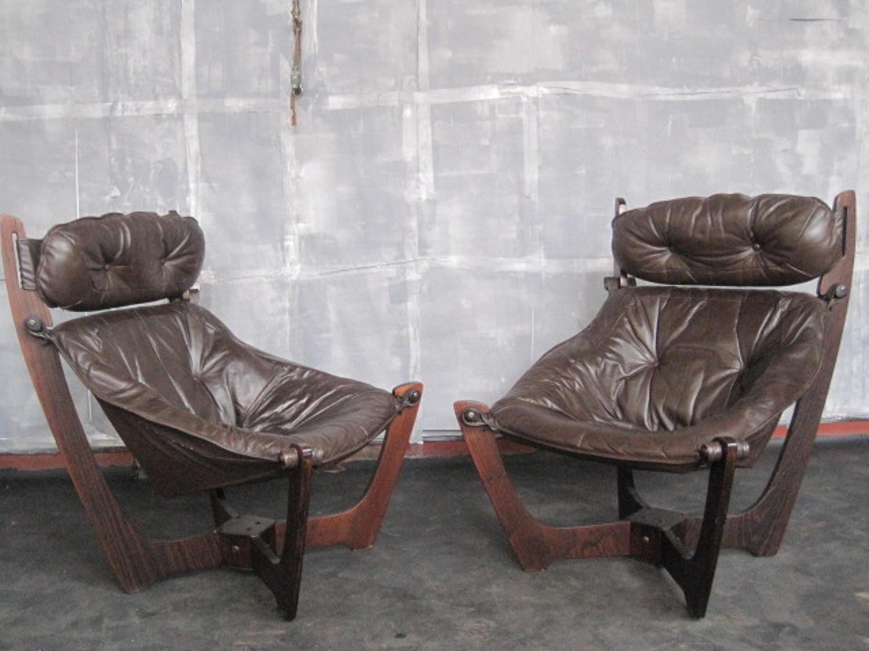 Vintage pair of Luna chairs by Odd Knudsen
