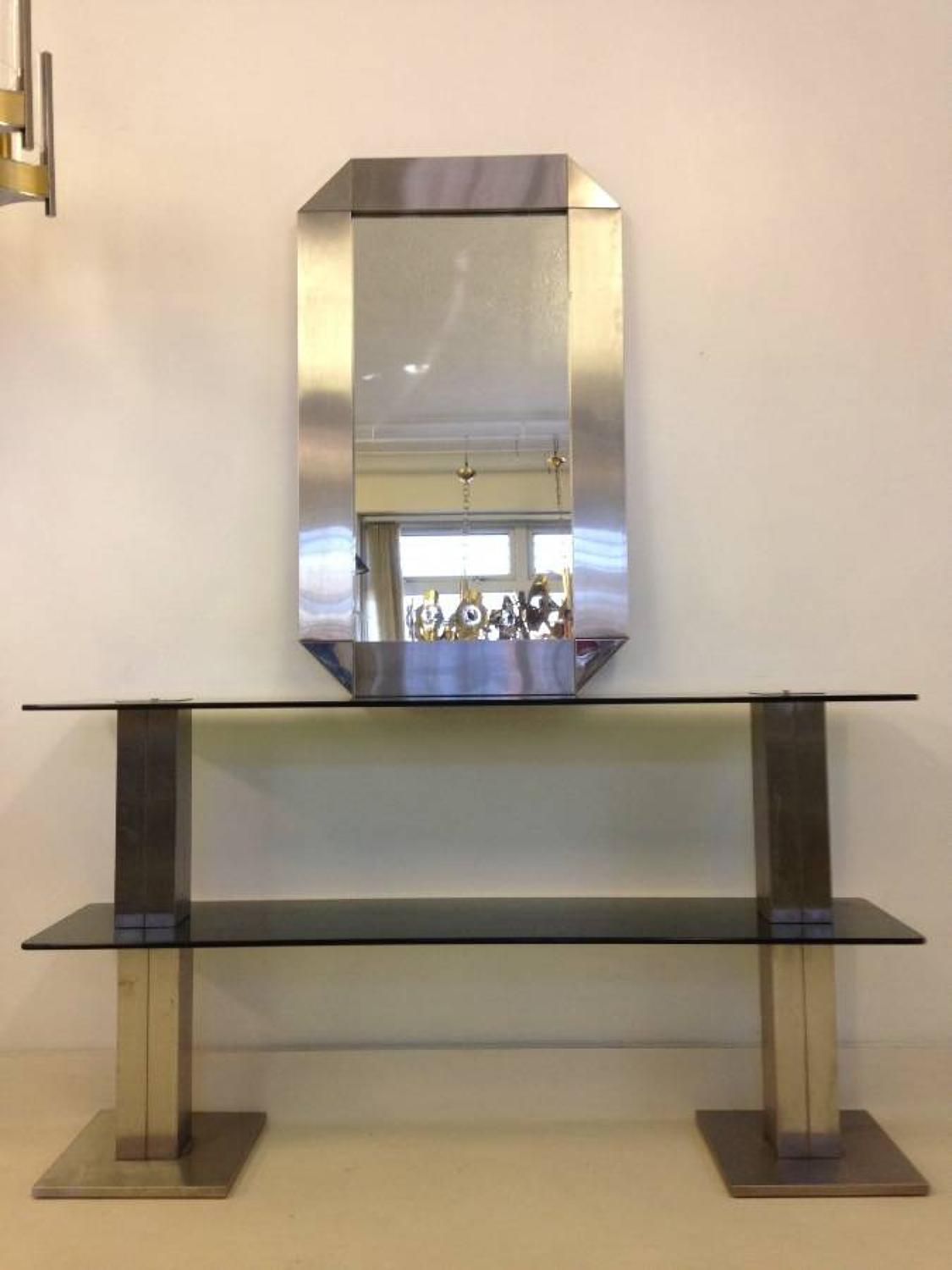 Italian console table and mirror