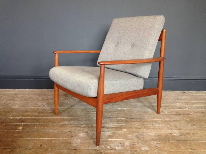 Teak armchair by Grete Jalk for France & Daverkosen