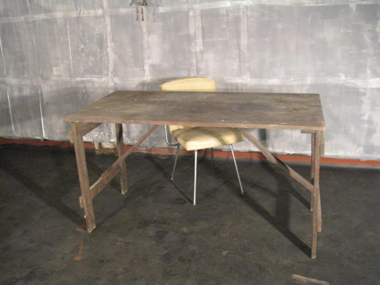 Vintage padouk work table