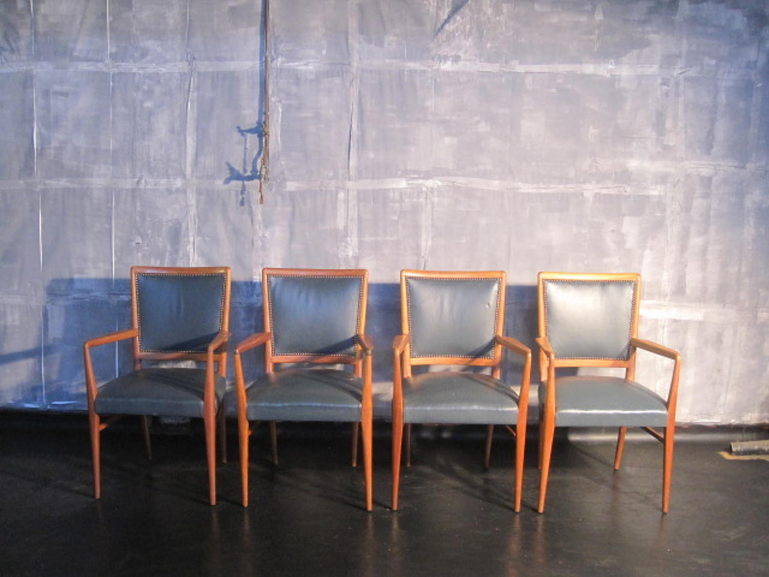 Four George Smith armchairs