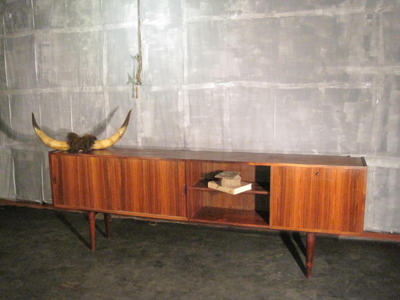 Long Danish rosewood sideboard
