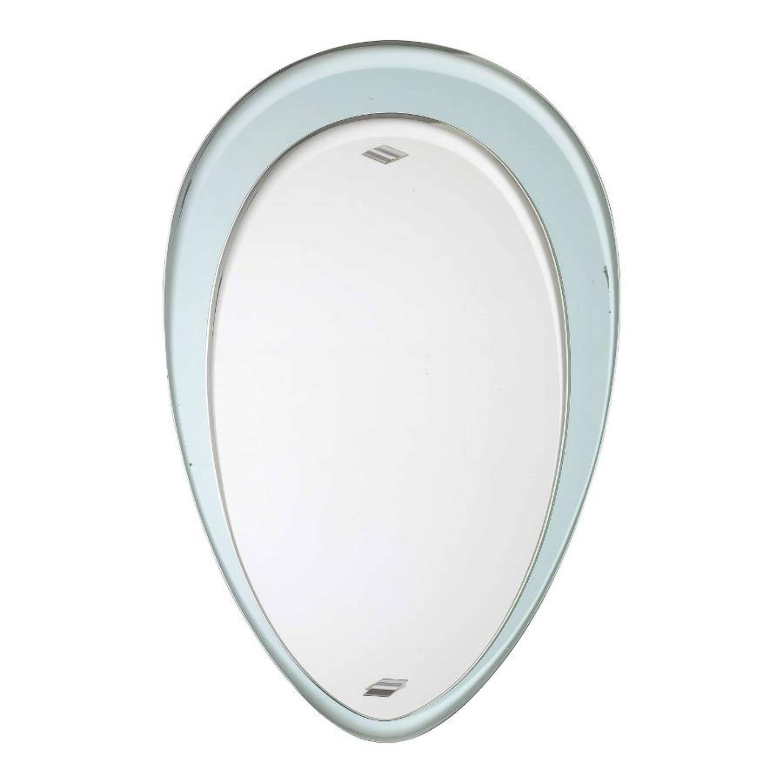 1960s Italian pale blue edged mirror