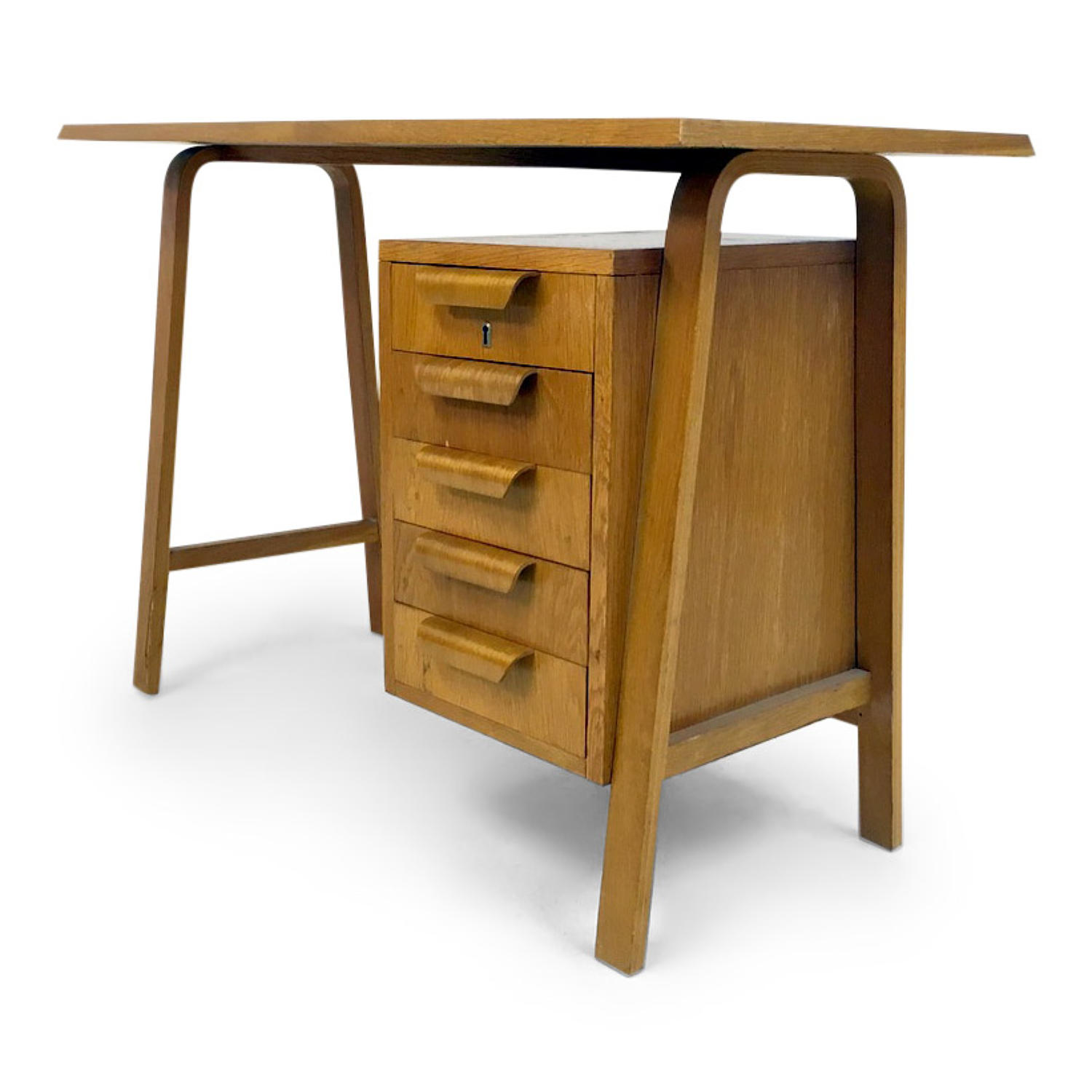 Small 1950s bentwood desk