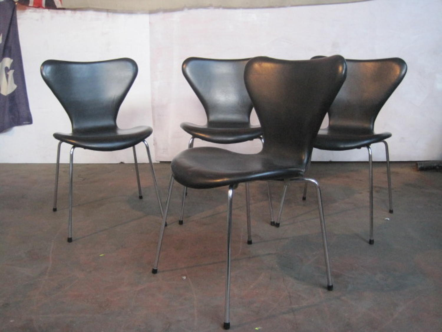 Four Series 7 chairs by Arne Jacobsen