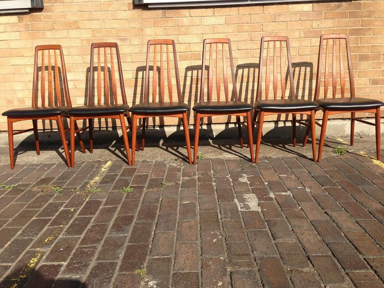 A set of six teak dining chairs by Koefoeds Hornslet