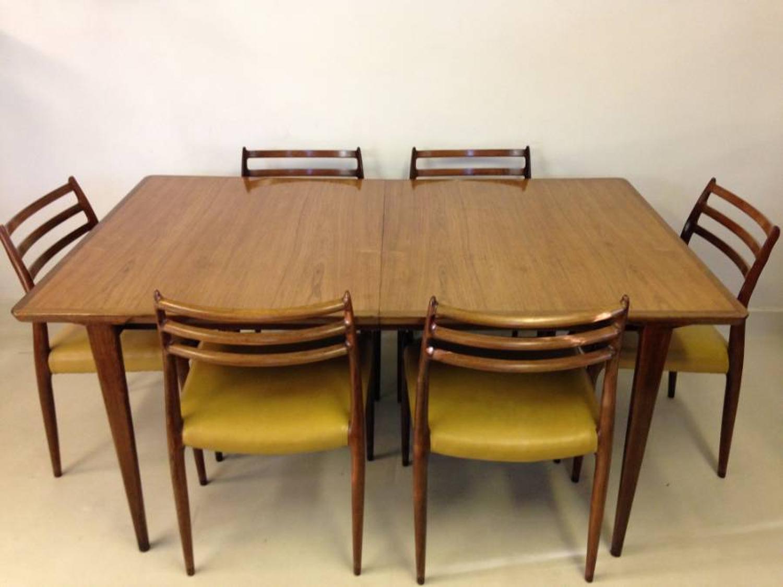 Danish rosewood dining table by Rosengren Hansen