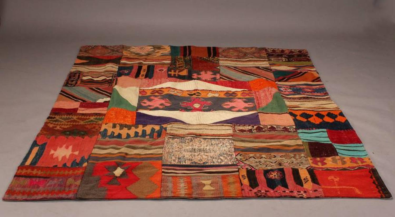 Kilim patchwork quilt or rug