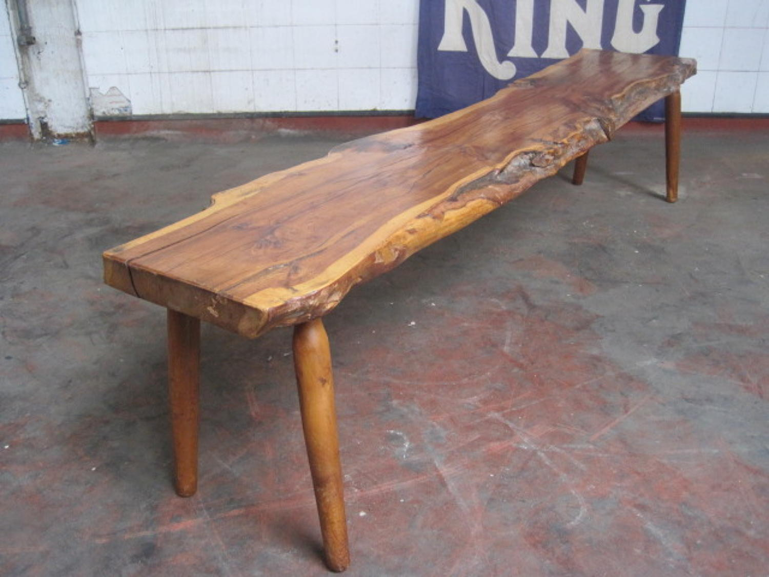 Rustic yew wood coffee table or bench