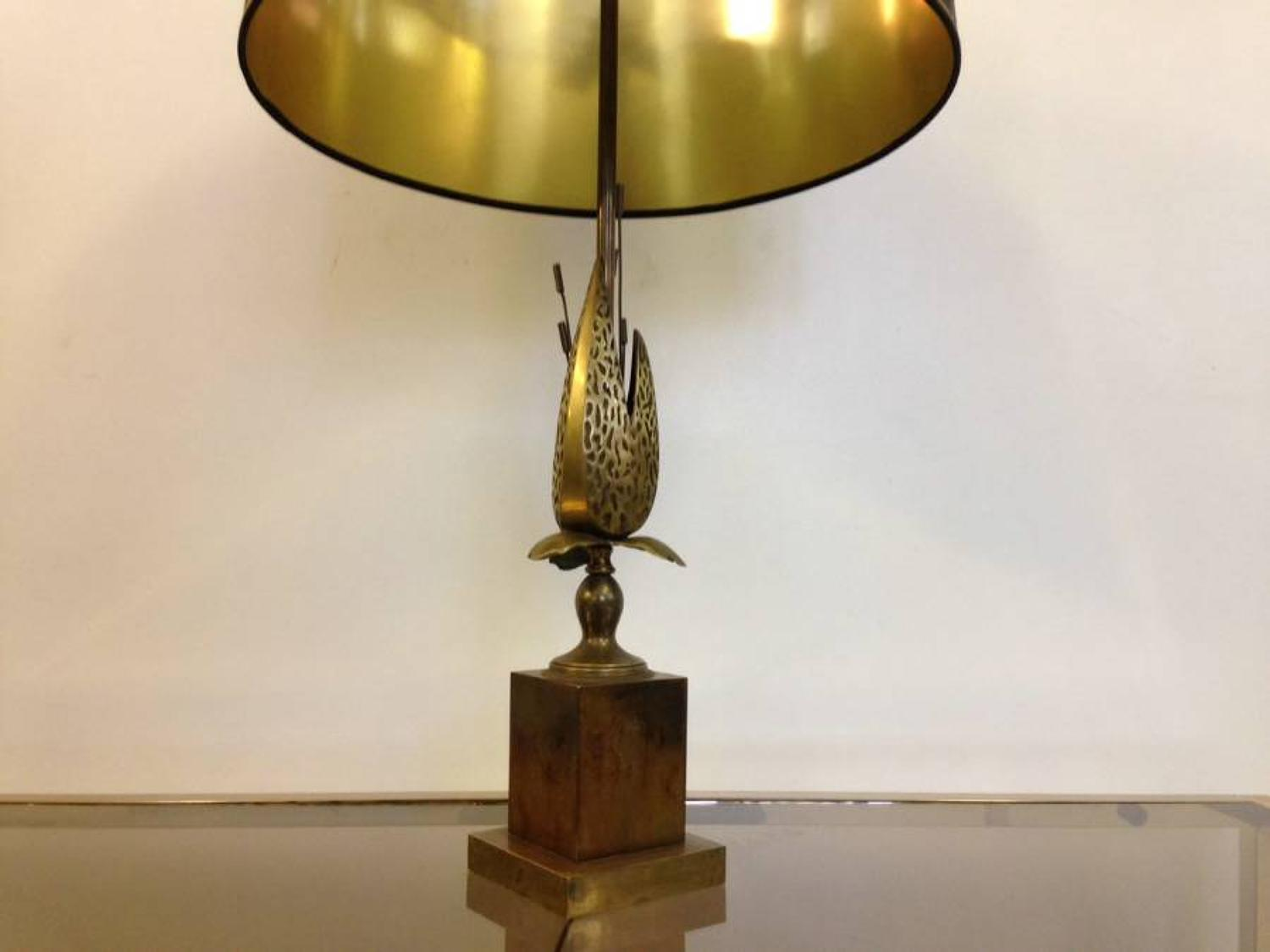 1970s brass and metal pod lamp