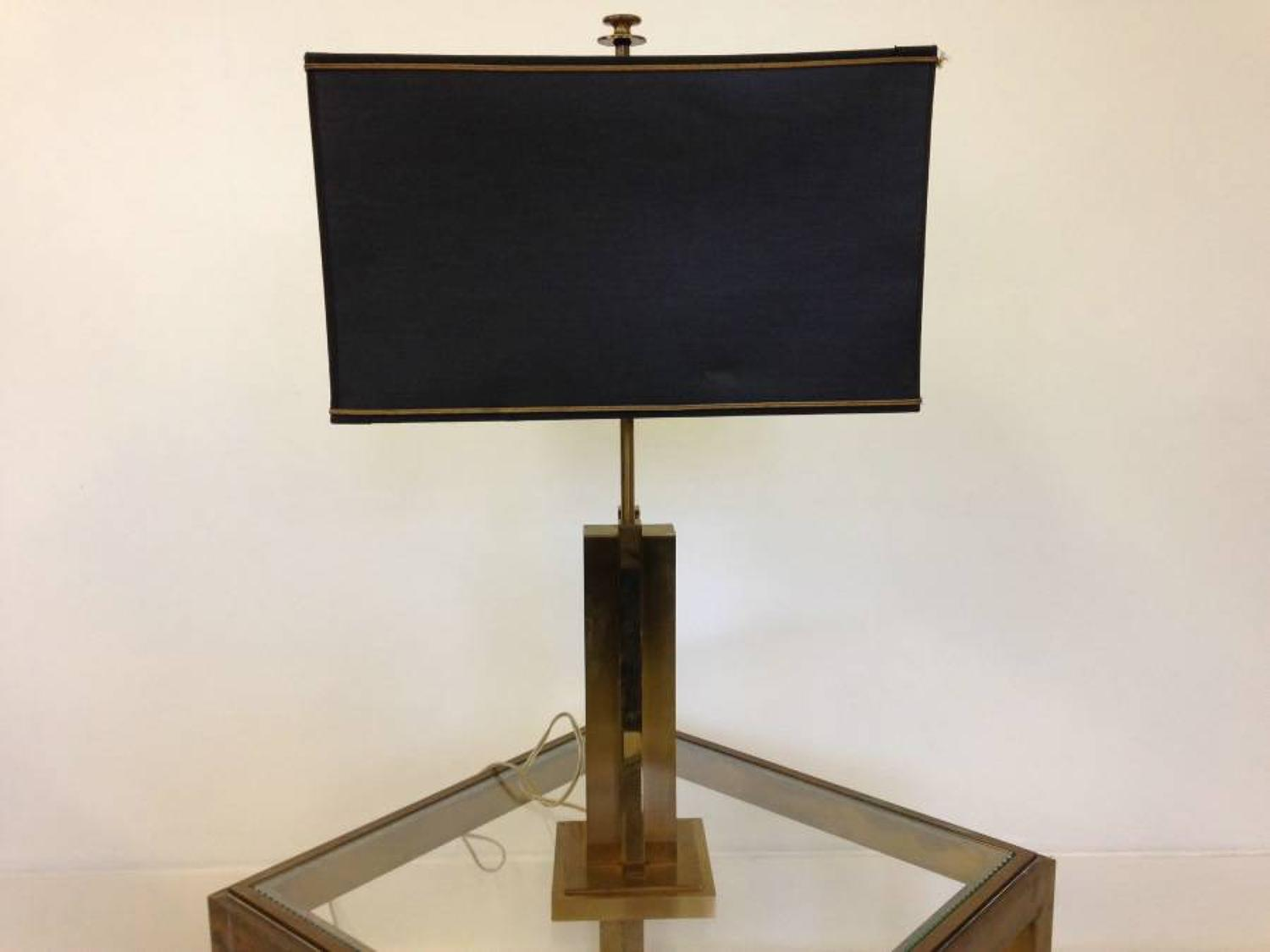 1970s Gilt brass table lamp