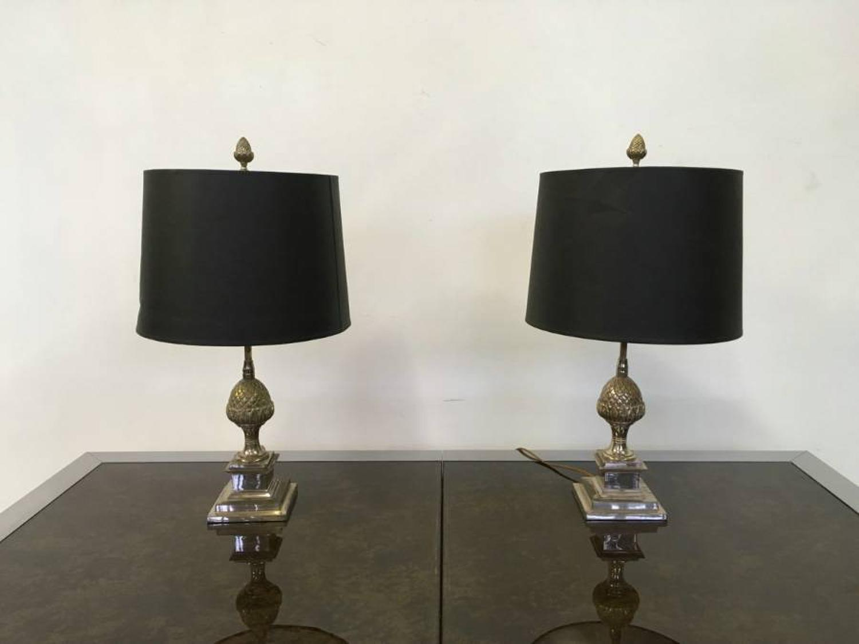 A pair of artichoke table lamps