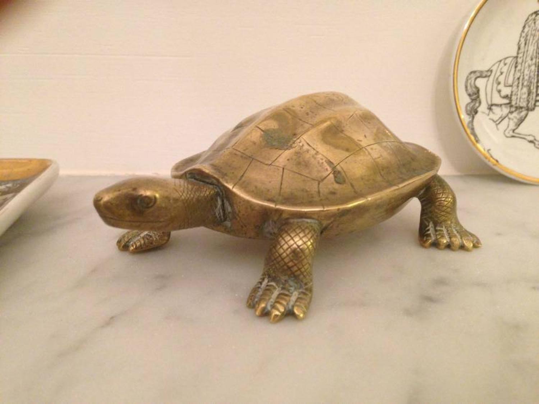 Ceylonese brass turtle by Vallipuram and sons