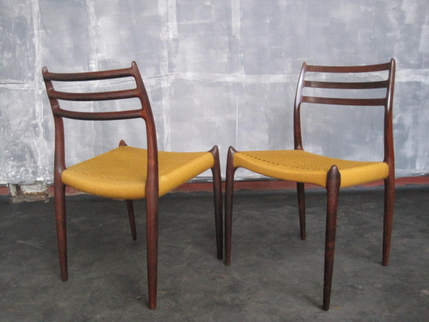 A pair of Niels Moller rosewood chairs