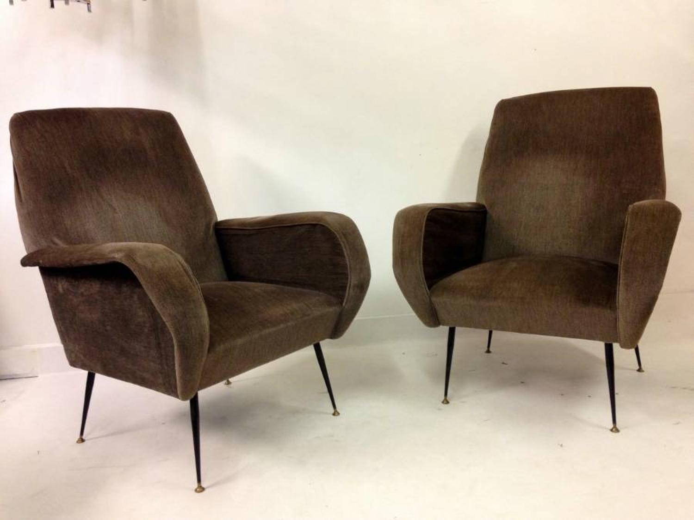 A set of three 1960s Italian armchairs