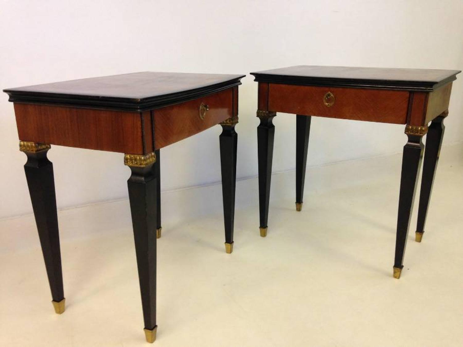 A pair of Italian bedside tables