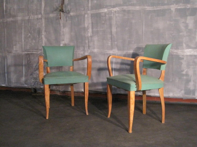 Pair of French bridge chairs