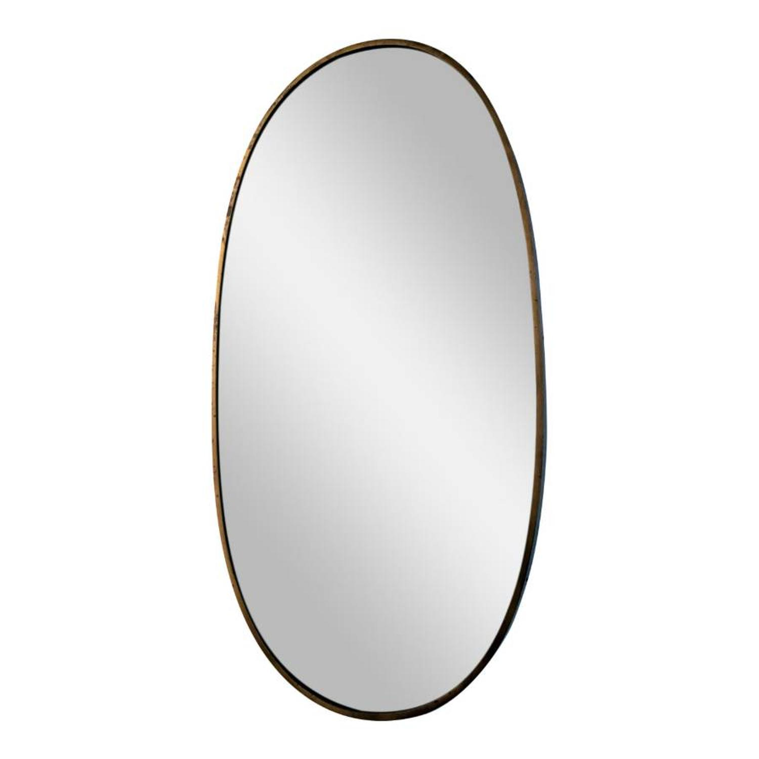 Italian oval brass mirror