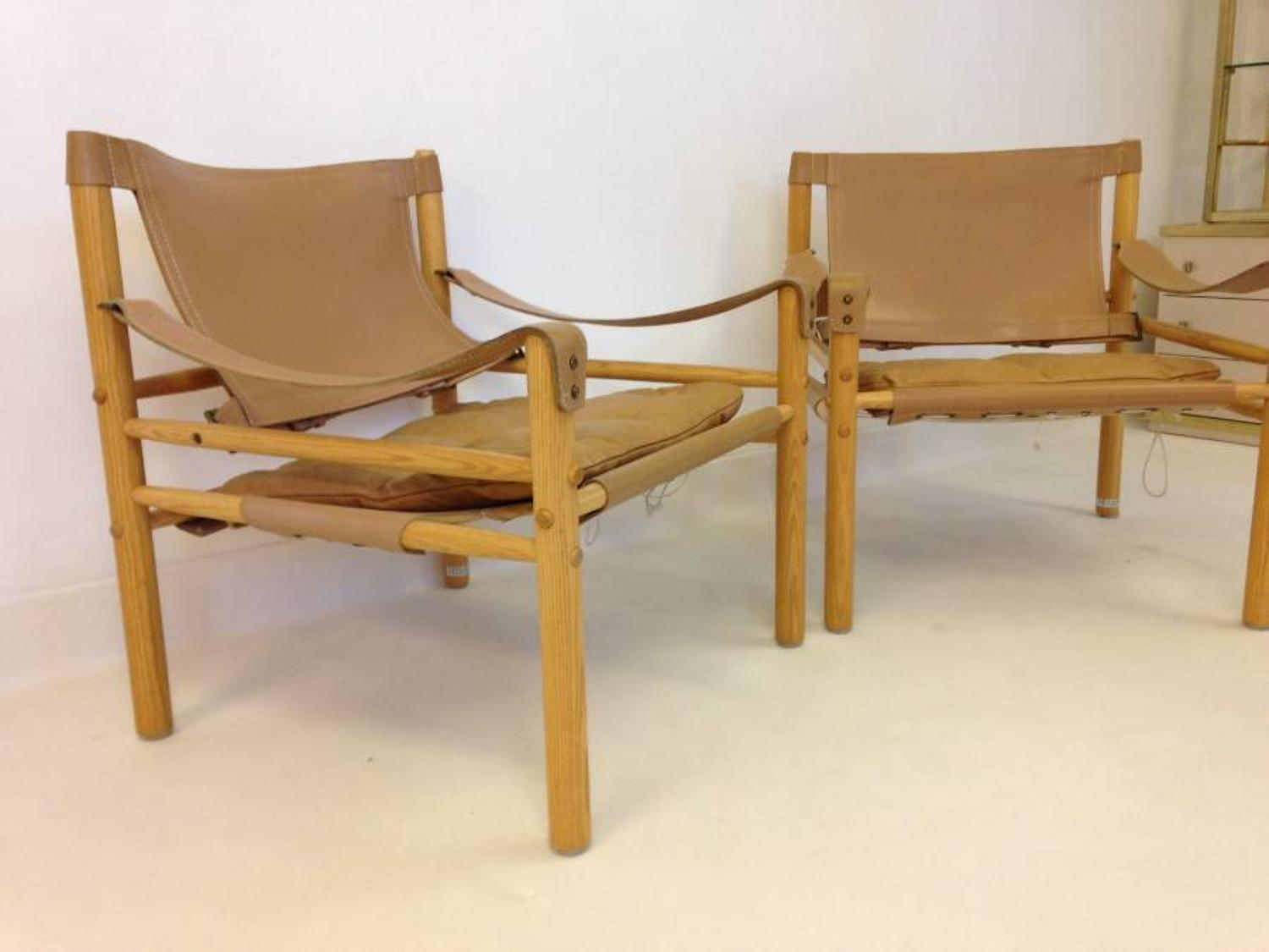 A pair of safari chairs by Arne Norell