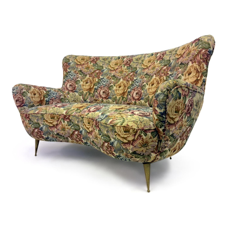 1960s Italian curved sofa