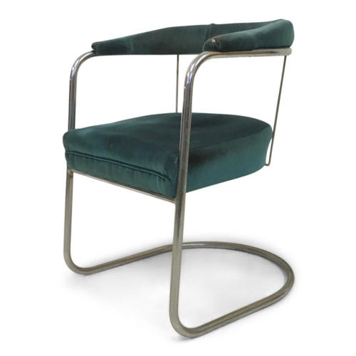 1930s Modernist SP4 tubular steel armchair by PEL