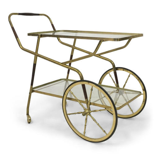 1950s Italian brass drinks trolley