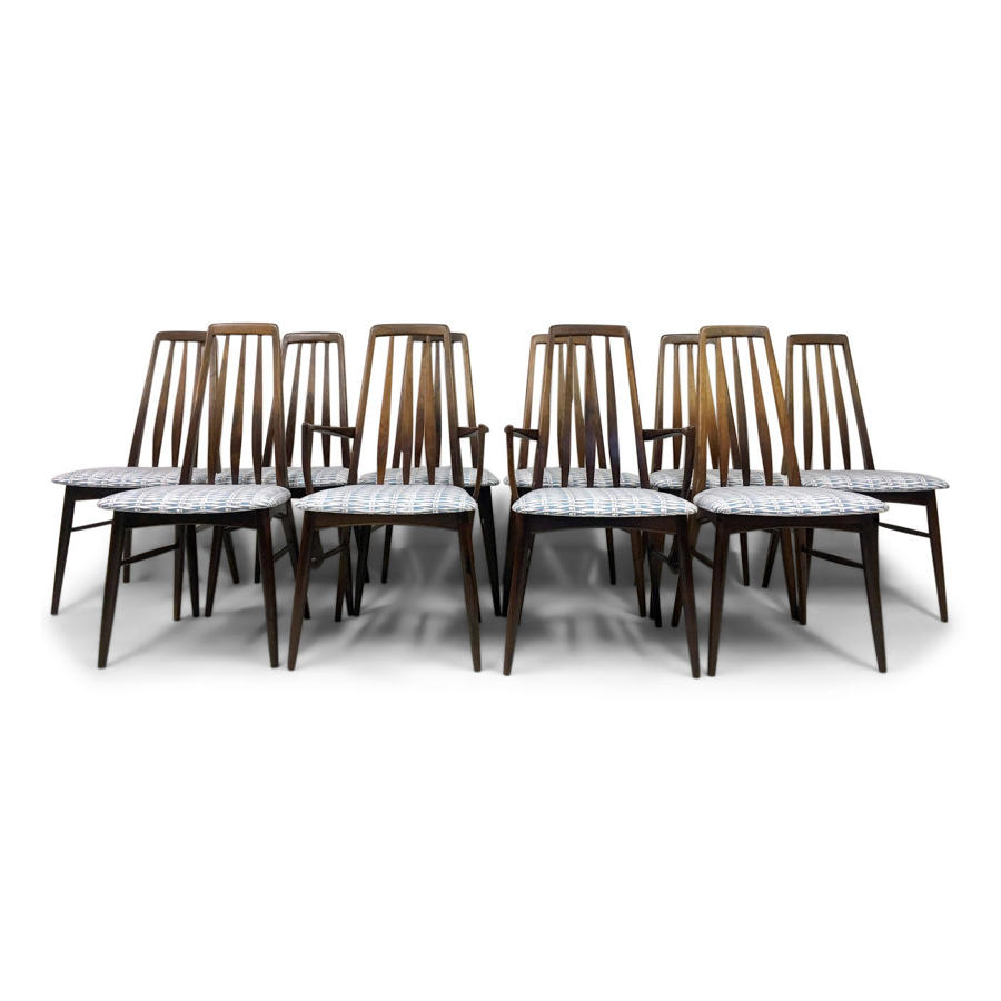 A set of ten rosewood dining chairs by Koefoeds Hornslet