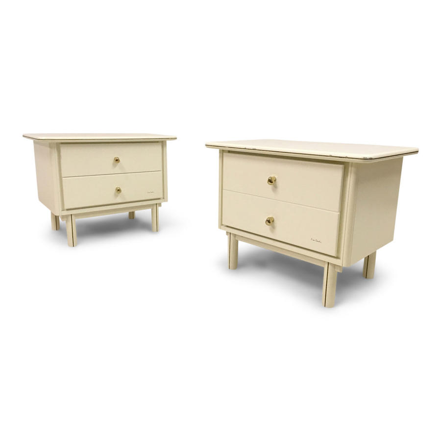 A pair of bedside tables by Pierre Cardin