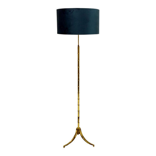 French faux bamboo floor lamp in brass