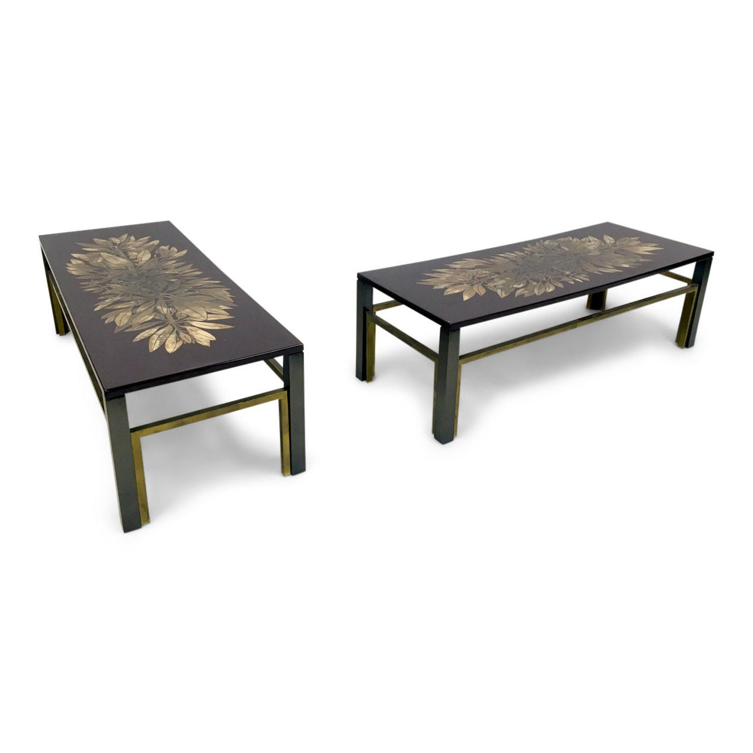 A pair of 1970s lacquered coffee tables
