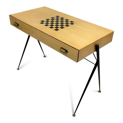 1960s Italian desk with chess board